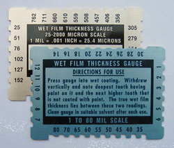 wet film thickness gauge how to use