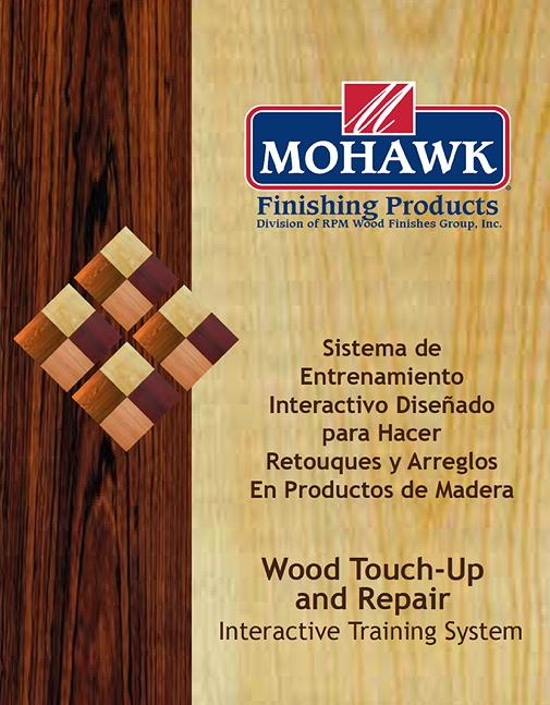 DVD de retoque y reparación de madera